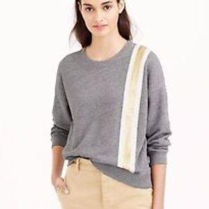 J. Crew | Racing -Stripe Sweatshirt - Size S